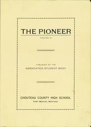 Page 3, 1922 Edition, Fort Benton High School - Pioneer Yearbook (Fort Benton, MT) online yearbook collection