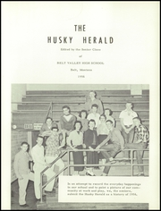 Page 5, 1956 Edition, Belt Valley High School - Husky Herald Yearbook (Belt, MT) online yearbook collection