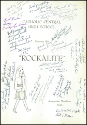 Page 5, 1946 Edition, Catholic Central High School - Rockalite Yearbook (Anaconda, MT) online yearbook collection