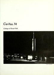 Page 5, 1974 Edition, University of Great Falls - Caritas Yearbook (Great Falls, MT) online yearbook collection