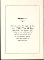 Page 10, 1929 Edition, Intermountain Union College - Prickly Pear Yearbook (Helena, MT) online yearbook collection