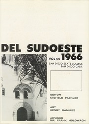 Page 5, 1966 Edition, San Diego State University - Del Sudoeste Yearbook (San Diego, CA) online yearbook collection