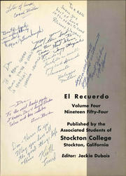 Page 7, 1954 Edition, Stockton College - El Recuerdo Yearbook (Stockton, CA) online yearbook collection