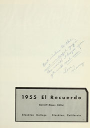 Page 5, 1955 Edition, Stockton College - El Recuerdo Yearbook (Stockton, CA) online yearbook collection