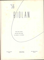 Page 7, 1956 Edition, Biola University - Biolan Yearbook (La Mirada, CA) online yearbook collection