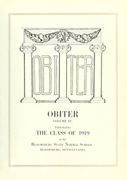 Page 9, 1919 Edition, Bloomsburg University - Obiter Yearbook (Bloomsburg, PA) online yearbook collection