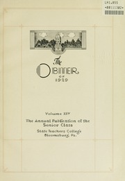 Page 5, 1929 Edition, Bloomsburg University - Obiter Yearbook (Bloomsburg, PA) online yearbook collection