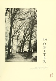 Page 5, 1938 Edition, Bloomsburg University - Obiter Yearbook (Bloomsburg, PA) online yearbook collection