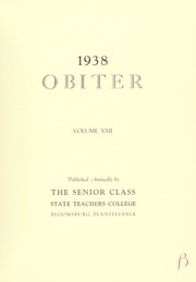 Page 9, 1938 Edition, Bloomsburg University - Obiter Yearbook (Bloomsburg, PA) online yearbook collection