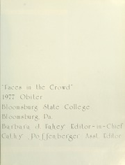 Page 7, 1977 Edition, Bloomsburg University - Obiter Yearbook (Bloomsburg, PA) online yearbook collection