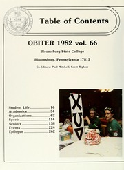 Page 6, 1982 Edition, Bloomsburg University - Obiter Yearbook (Bloomsburg, PA) online yearbook collection