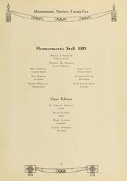 Page 13, 1925 Edition, West Virginia Wesleyan College - Murmurmontis Yearbook (Buckhannon, WV) online yearbook collection