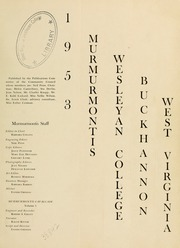 Page 5, 1953 Edition, West Virginia Wesleyan College - Murmurmontis Yearbook (Buckhannon, WV) online yearbook collection