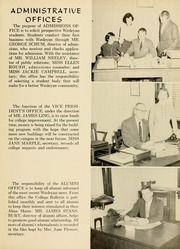 Page 11, 1955 Edition, West Virginia Wesleyan College - Murmurmontis Yearbook (Buckhannon, WV) online yearbook collection