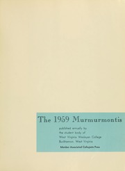 Page 5, 1959 Edition, West Virginia Wesleyan College - Murmurmontis Yearbook (Buckhannon, WV) online yearbook collection