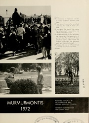 Page 5, 1972 Edition, West Virginia Wesleyan College - Murmurmontis Yearbook (Buckhannon, WV) online yearbook collection
