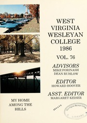 Page 5, 1986 Edition, West Virginia Wesleyan College - Murmurmontis Yearbook (Buckhannon, WV) online yearbook collection