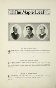 Page 14, 1917 Edition, Goshen College - Maple Leaf Yearbook (Goshen, IN) online yearbook collection