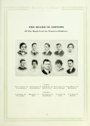 Page 11, 1918 Edition, Goshen College - Maple Leaf Yearbook (Goshen, IN) online yearbook collection