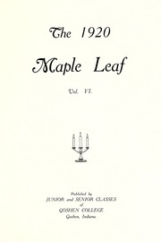 Page 7, 1920 Edition, Goshen College - Maple Leaf Yearbook (Goshen, IN) online yearbook collection