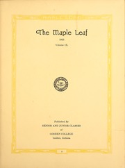 Page 7, 1923 Edition, Goshen College - Maple Leaf Yearbook (Goshen, IN) online yearbook collection