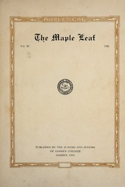 Page 7, 1926 Edition, Goshen College - Maple Leaf Yearbook (Goshen, IN) online yearbook collection
