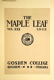 Page 7, 1935 Edition, Goshen College - Maple Leaf Yearbook (Goshen, IN) online yearbook collection