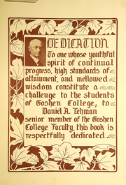 Page 9, 1935 Edition, Goshen College - Maple Leaf Yearbook (Goshen, IN) online yearbook collection