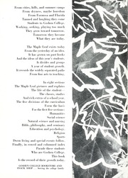 Page 15, 1954 Edition, Goshen College - Maple Leaf Yearbook (Goshen, IN) online yearbook collection