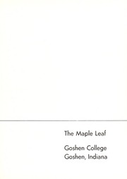 Page 5, 1954 Edition, Goshen College - Maple Leaf Yearbook (Goshen, IN) online yearbook collection