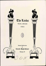 Page 9, 1921 Edition, Lincoln High School - Links Yearbook (Lincoln, NE) online yearbook collection