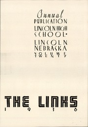 Page 7, 1936 Edition, Lincoln High School - Links Yearbook (Lincoln, NE) online yearbook collection