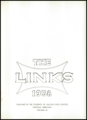Page 5, 1958 Edition, Lincoln High School - Links Yearbook (Lincoln, NE) online yearbook collection