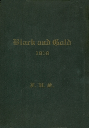 Page 1, 1919 Edition, Fremont High School - Black And Gold Yearbook (Fremont, NE) online yearbook collection
