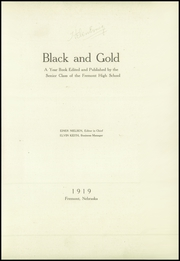 Page 5, 1919 Edition, Fremont High School - Black And Gold Yearbook (Fremont, NE) online yearbook collection