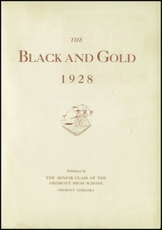 Page 5, 1928 Edition, Fremont High School - Black And Gold Yearbook (Fremont, NE) online yearbook collection