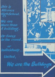 1974 Edition, Alliance High School - Bulldog Yearbook (Alliance, NE)