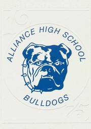 1975 Edition, Alliance High School - Bulldog Yearbook (Alliance, NE)