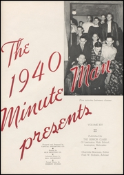 Page 5, 1940 Edition, Lexington High School - Minute Man Yearbook (Lexington, NE) online yearbook collection
