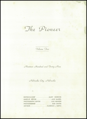 Page 5, 1949 Edition, Nebraska City High School - Pioneer Yearbook (Nebraska City, NE) online yearbook collection
