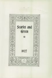 Page 7, 1927 Edition, Auburn High School - Scarlet and Green Yearbook (Auburn, NE) online yearbook collection