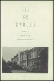 Page 5, 1945 Edition, Valentine High School - Badger Yearbook (Valentine, NE) online yearbook collection