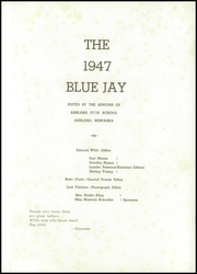 Page 5, 1947 Edition, Ashland High School - Blue Jay Yearbook (Ashland, NE) online yearbook collection