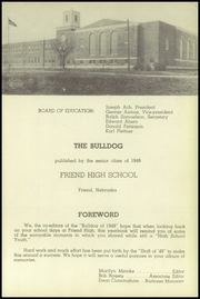 Page 5, 1949 Edition, Friend High School - Bulldog Yearbook (Friend, NE) online yearbook collection