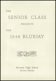 Page 5, 1948 Edition, Ravenna High School - Blue Jay Yearbook (Ravenna, NE) online yearbook collection