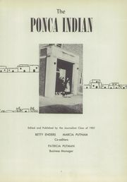 Page 5, 1951 Edition, Ponca High School - Indian Yearbook (Ponca, NE) online yearbook collection