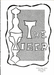 Page 5, 1963 Edition, Dalton High School - Tiger Yearbook (Dalton, NE) online yearbook collection