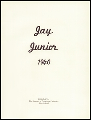 Page 5, 1940 Edition, Creighton Preparatory School - Jay Junior Yearbook (Omaha, NE) online yearbook collection