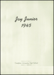 Page 5, 1945 Edition, Creighton Preparatory School - Jay Junior Yearbook (Omaha, NE) online yearbook collection