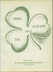 Page 7, 1953 Edition, St Bonaventure High School - Bona Venture Yearbook (Columbus, NE) online yearbook collection